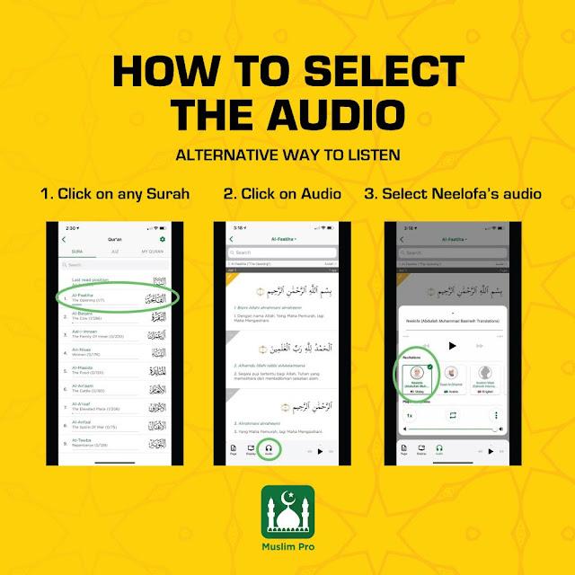 Aplikasi Muslim Pro Memperdengarkan Suara Neelofa Membacakan Makna Al-Quran