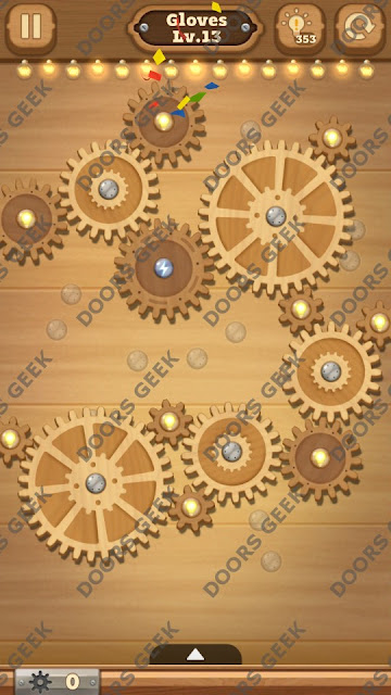Fix it: Gear Puzzle [Gloves] Level 13 Solution, Cheats, Walkthrough for Android, iPhone, iPad and iPod