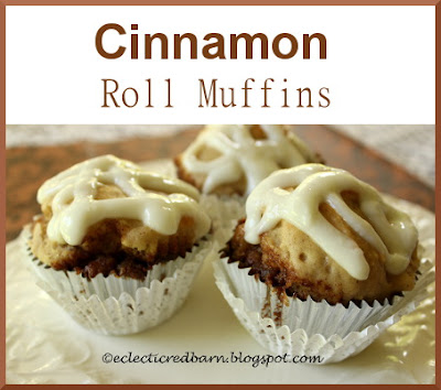 Eclectic Red Barn: Cinnamon Roll Muffins