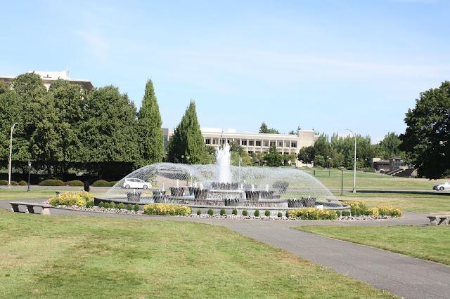 Tivoli Fountain at the Washington Capitol Campus is a replica of the fountain at Denmark's Tivoli Gardens