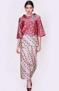 Model baju batik untuk pesta elegan