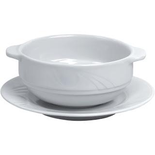 Bol de supa 'Karizma' comercializat impreuna cu farfurioara pentru bol