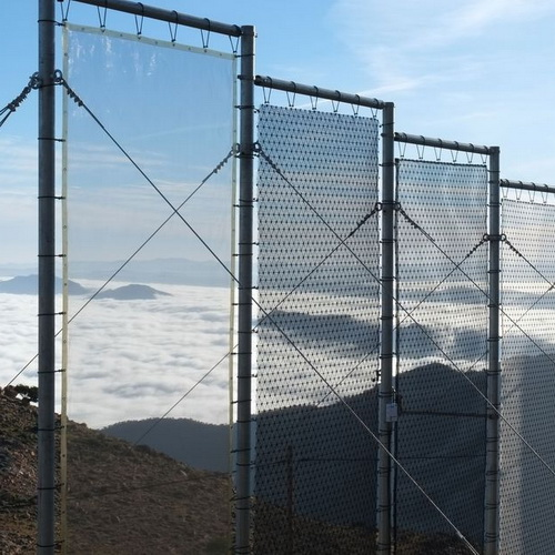Tinuku Peter Trautwein of German Water Foundation developed CloudFisher nets for harvesting clean water from fog