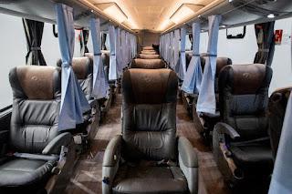 Interior do ônibus Biosafe da Marcopolo. (Foto: Divulgação/Marcopolo)