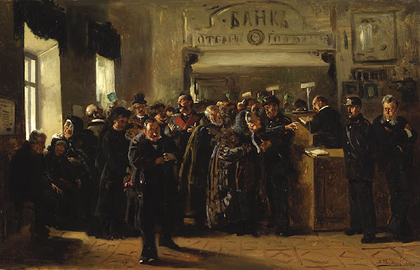 Маковский Владимир Егорович - Крах банка. 1880