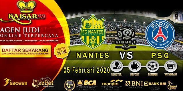 Prediksi Bola Terpercaya Liga French 1 Nantes vs Paris Saint Germain 5 Februari 2020