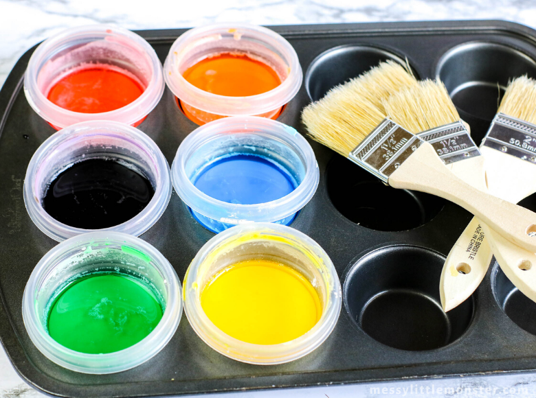 Sidewalk chalk paint outdoor activity for kids