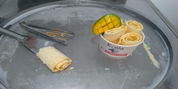 usaha es krim roll mangga