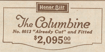 Sears Columbine house model