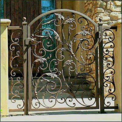 pagar besi tempa mewah untuk rumah klasik