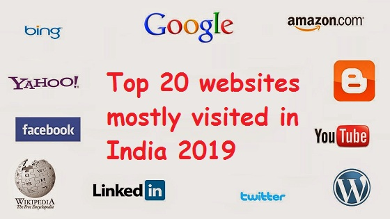 Top 20 websites mostly visited in India 2019