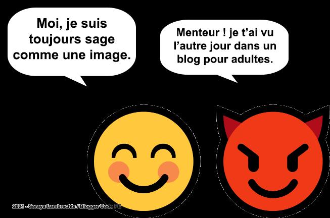 Blogger Humour - Le smiley sage comme une image.
