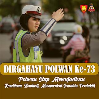 poster ucapan dirgahayu polwan 73 - kanalmu