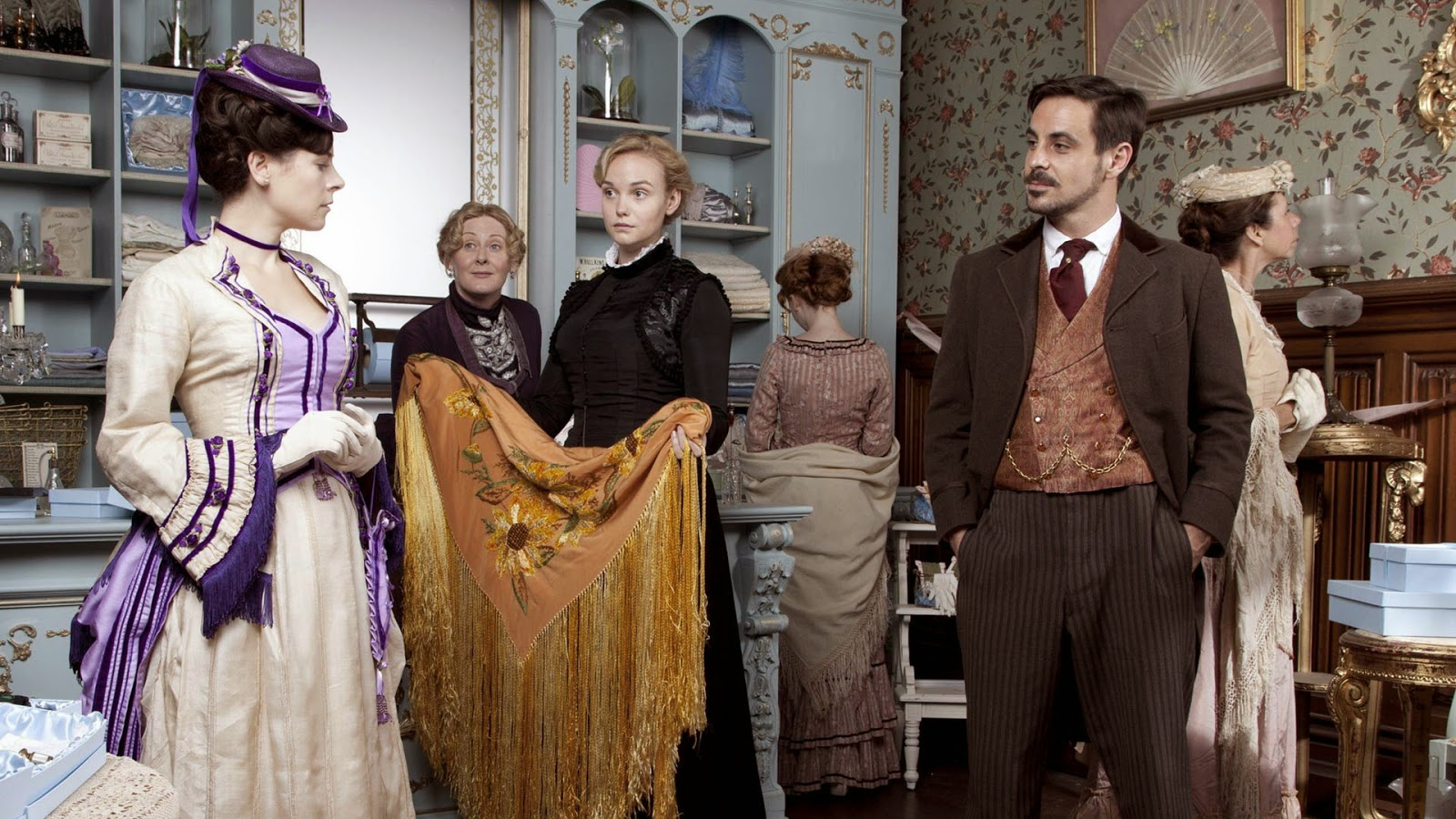 'THE PARADISE,' SERIES ONE (2012). Lark Rise to Candleford creator Bill Gallagher brings The Paradise, about a small department store, to the BBC. Text © Rissi JC