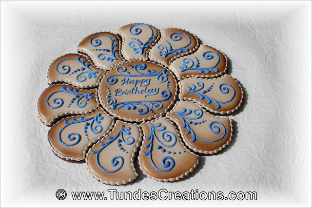 Birthday cookie platter by Tunde Dugantsi
