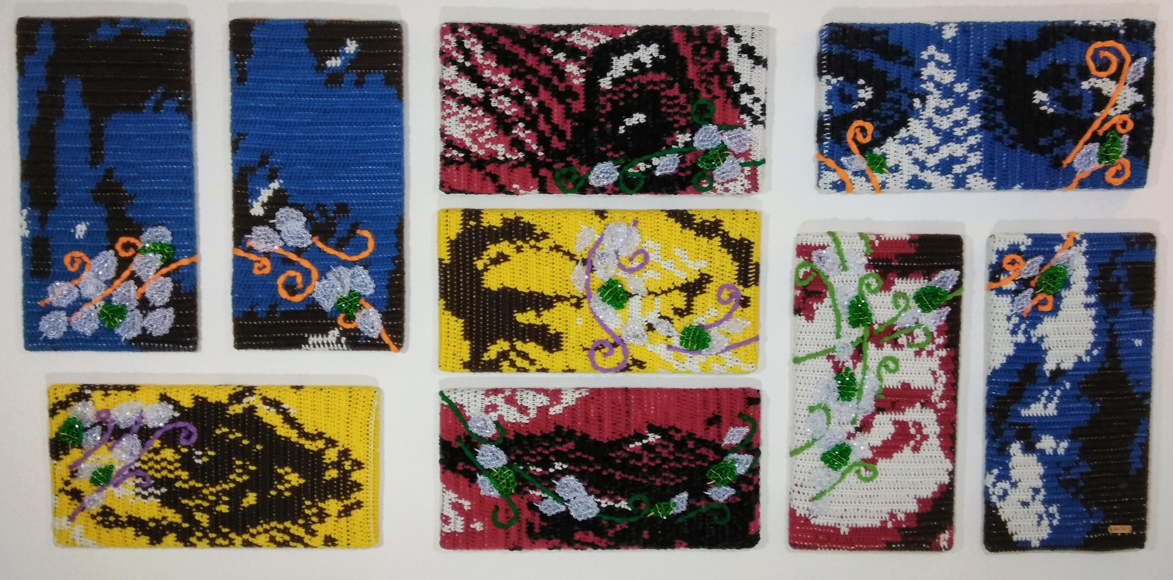 Self Talk: Bipolar Fine Art Mental Health Awareness Tapestry by Jen Ten