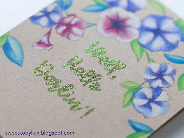 Wow! Glitter Embossing on Kraft Cardstock