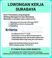 Karir Surabaya di PT. Sinar Shaladin Semesta Januari 2021