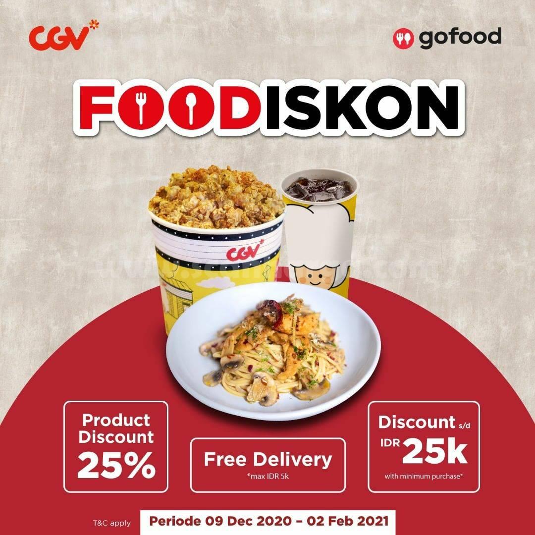 CGV Cinema Promo Diskon Rp 25.000 untuk Aneka Snack via GOFOOD