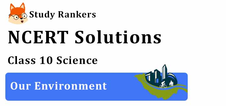 NCERT Solutions for Class 10 Science Chapter 15 Our Environment