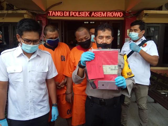 Pelaku Penjambretan Berhasil Diringkus Cepat Polsek Asemrowo Surabaya