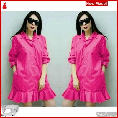 FHGS9060 Model Dress Yumica Fanta, Dress Pakaian Perempuan Katun BMG