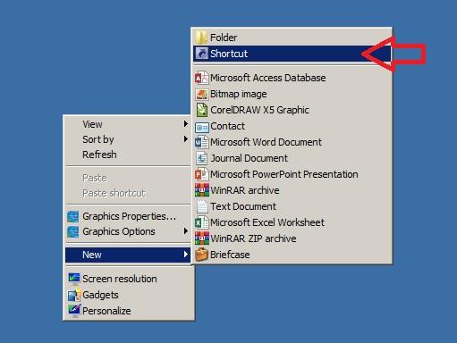 Tạo shortcut tắt máy tính từ màn hình desktop