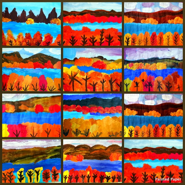 Autumn landscape art project ideas artmuse67 for Arts and crafts classes nyc