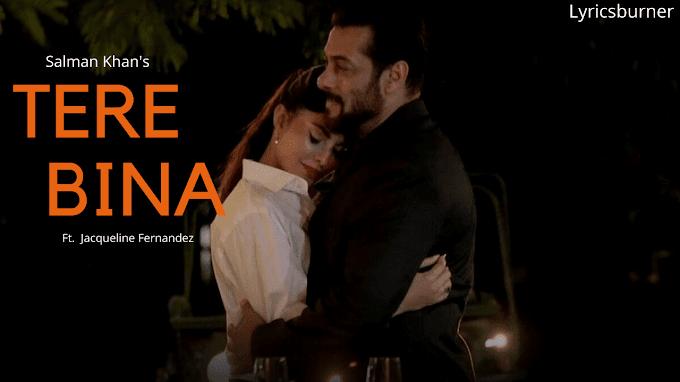 Tere Bina Lyrics - Salman Khan | Lyricsburner