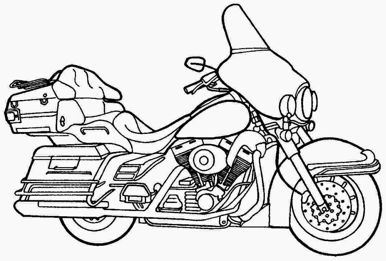 free biker coloring pages - photo#8