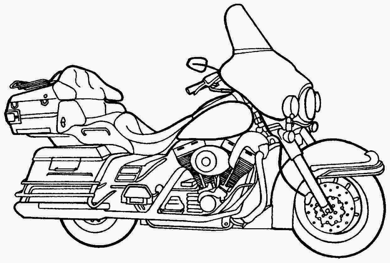 Printable Motorcycle Coloring Pages - Democraciaejustica
