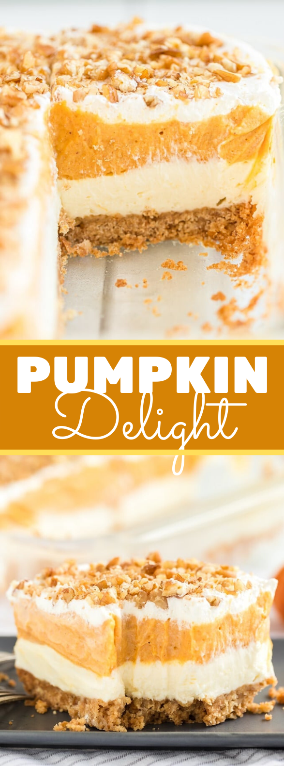 Pumpkin Delight Dessert #cake #thanksgiving
