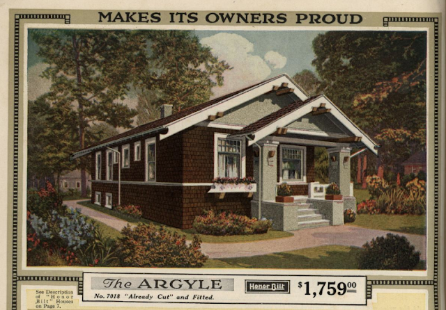 color print image of Sears Argyle in 1921 Sears Modern Homes catalogue