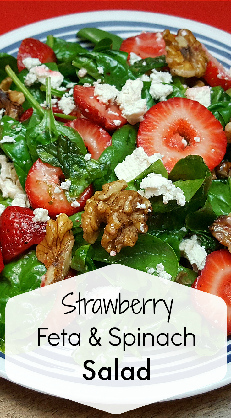Strawberry Feta Spinach Salad Recipe