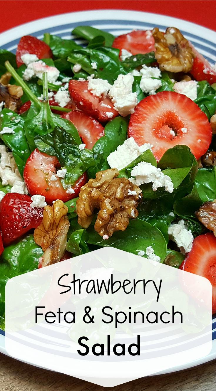 Strawberry Feta Spinach Salad Recipe