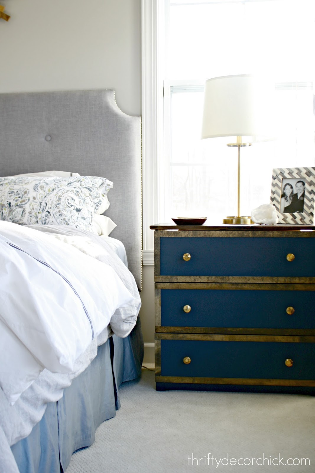 Small dresser as nightstand