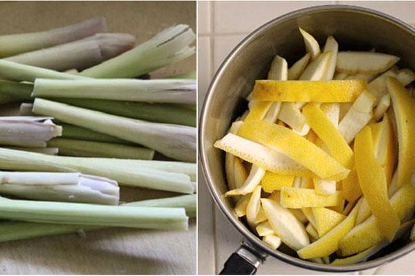 Cách làm nước rửa chén bằng vỏ bưởi và sả