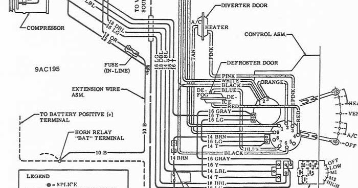 1969 Chevrolet Air ConditionerHeater Wiring Diagram | All