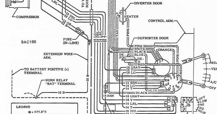 1969 Chevrolet Air ConditionerHeater Wiring Diagram   All