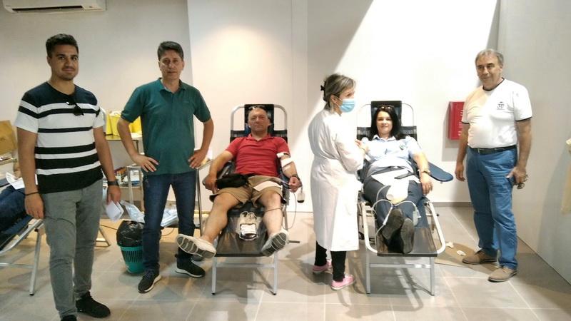 Εθελοντική αιμοδοσία από αστυνομικούς της Διεύθυνσης Αστυνομίας Αλεξανδρούπολης