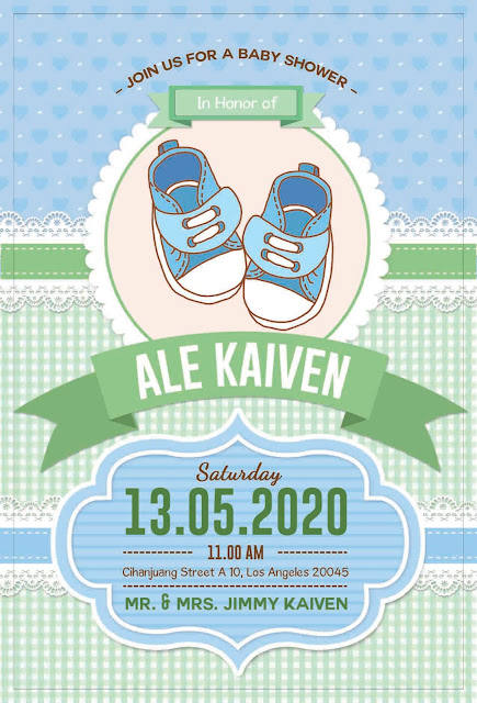 Baby Shower Save The Date Card - BS Card 005