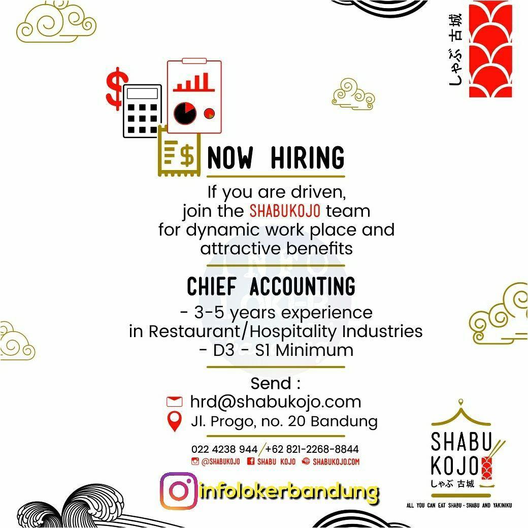 Lowongan Kerja Chief Accounting Shabukojo Restaurant Jepang Bandung November 2017