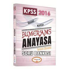 Yediiklim KPSS Bumerang Anayasa Tamamı Çözümlü Soru Bankası (2016)