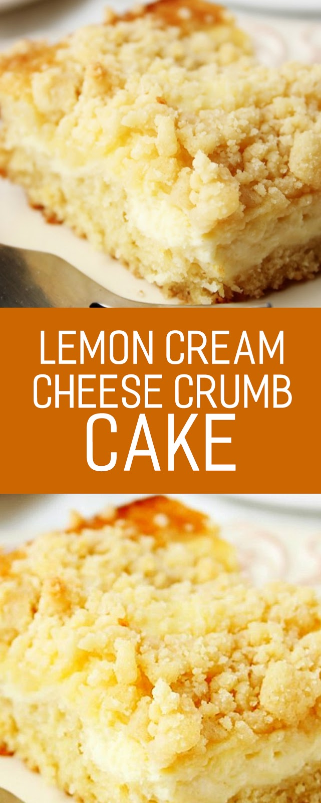 Recipe Lemon Cream Cheese Crumb Cake #cake