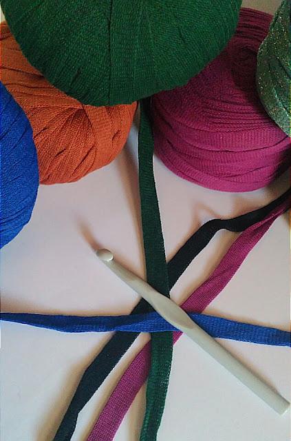 trapillo tejido o textil a crochet