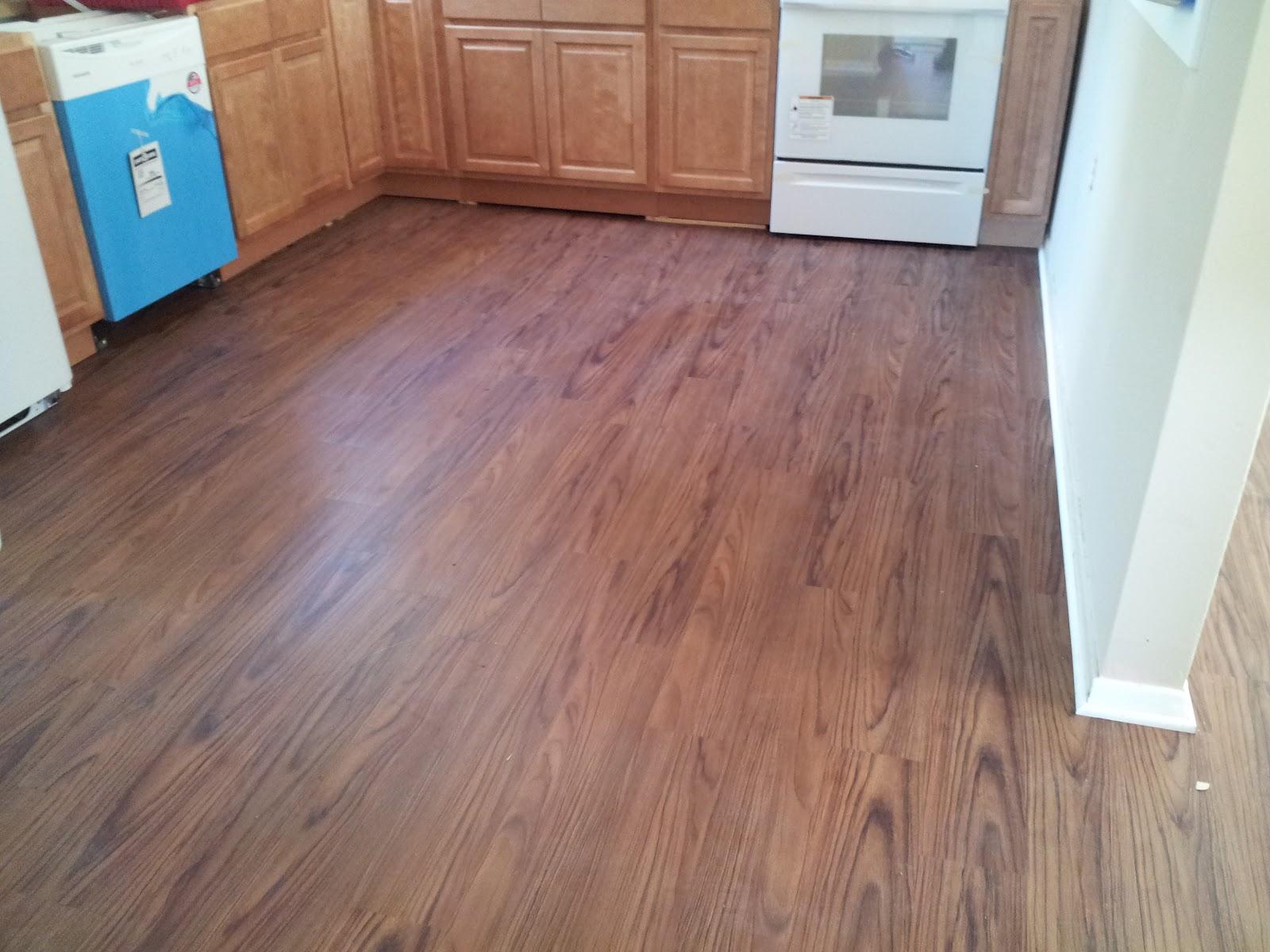 Floor Installation Photos Wood looking vinyl floor in