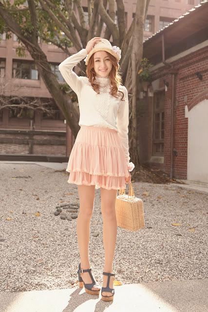 model rok sifon pendek  korea cantik