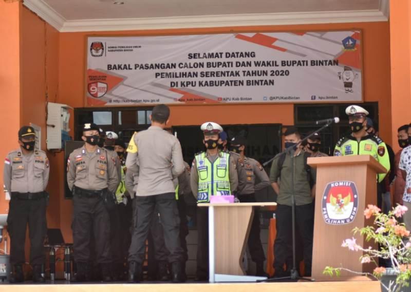Polres Bintan Siap Amankan Pendaftaran Paslon Bupati dan Wakil Bupati di Kantor KPU Bintan