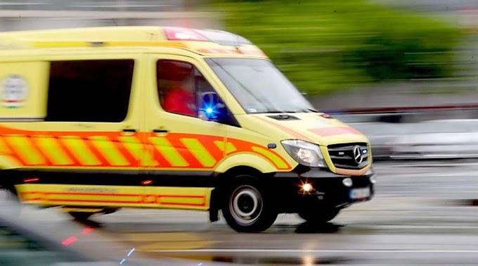 Baleset az M5-ösön Csengelénél, a mentők is a helyszínen vannak