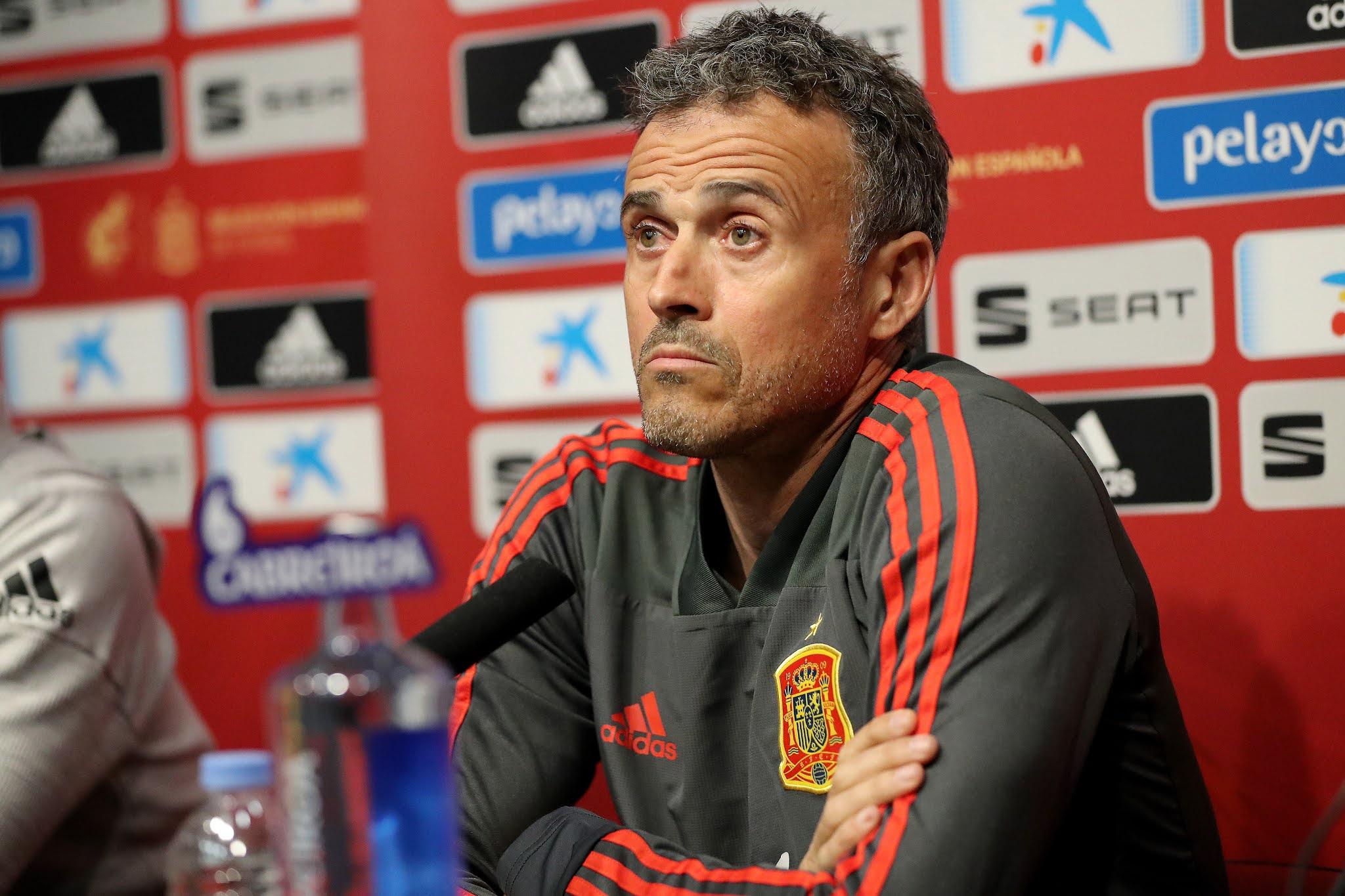 Spain's head coach Luis Enrique